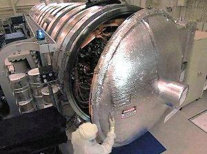 A NASA vacuum chamber